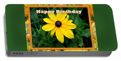 Portable Battery Charger featuring the photograph Happy Birthday Card by Sonya Nancy Capling-Bacle