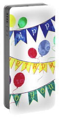 Happy Birthday Flag Portable Battery Charger