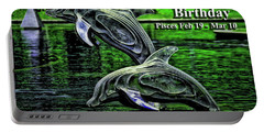 Happy Birthday Pisces Portable Battery Charger
