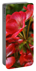Happy Bright Spring Geranium Portable Battery Charger