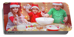 Happy Children Making Cookies Portable Battery Charger