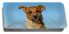 Happy Dog At The Beach Portable Battery Charger