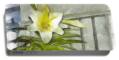 Portable Battery Charger featuring the photograph Happy Easter Lily by Claire Bull