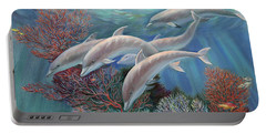 Happy Family - Dolphins Are Awesome Portable Battery Charger