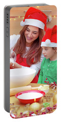Happy Family Preparing For Christmas Portable Battery Charger