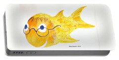 Happy Fish With Glasses Portable Battery Charger