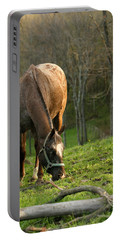 Happy Grazing Portable Battery Charger by Angela Rath