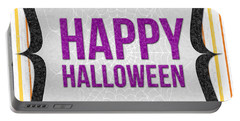 Happy Halloween-art By Linda Woods Portable Battery Charger