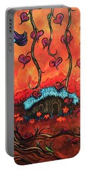 Cabin In The Woods Portable Battery Charger by Dani Abbott
