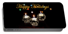 Portable Battery Charger featuring the photograph Happy Holiday Candles by Ed Clark