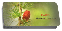 Portable Battery Charger featuring the photograph Happy Holiday Season Card by Aimelle