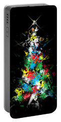 Happy Holidays - Abstract Tree - Vertical Portable Battery Charger