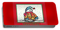 Happy Holidays Snowman Portable Battery Charger