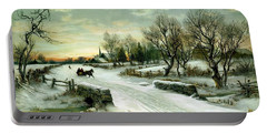 Portable Battery Charger featuring the painting Happy Holidays by Travel Pics
