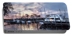 Happy Hour Sunset At Bluewater Bay Marina, Florida Portable Battery Charger