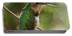 Happy Hummingbird Portable Battery Charger by Tina  LeCour
