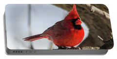 Happy Mister Cardinal Portable Battery Charger