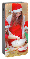 Happy Preparation For Christmas Holidays Portable Battery Charger
