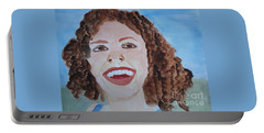Portable Battery Charger featuring the painting Happy by Sandy McIntire