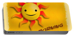 Happy Sun Face Portable Battery Charger