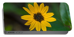 Happy Sunflower Portable Battery Charger by Kenneth Albin