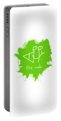 Happy The Crab - Green Portable Battery Charger