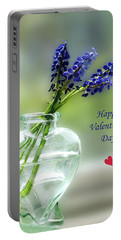 Happy Valentine's Day Portable Battery Charger by Don Spenner