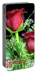 Portable Battery Charger featuring the photograph Happy Valentines Day by Sandi OReilly