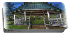 Portable Battery Charger featuring the photograph Happy Valley Gazebo Art  by Thom Zehrfeld