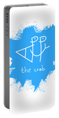 Happy The Crab - Blue Portable Battery Charger