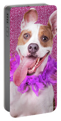 Hapy Dog Portable Battery Charger by Stephanie Hayes