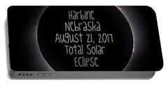 Harbine Nebraska Total Solar Eclipse August 21 2017 Portable Battery Charger
