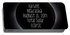Harbine Nebraska Total Solar Eclipse August 21 2017 Portable Battery Charger