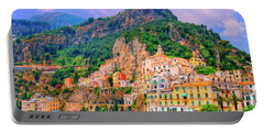 Harbor At Amalfi Portable Battery Charger by Dominic Piperata