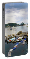 Portable Battery Charger featuring the photograph Harbor At Georgetown Five Islands, Georgetown, Maine #60550 by John Bald