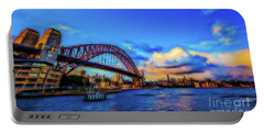 Portable Battery Charger featuring the photograph Harbor Bridge by Perry Webster
