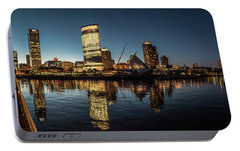 Portable Battery Charger featuring the photograph Harbor House View by Randy Scherkenbach