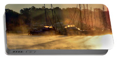 Portable Battery Charger featuring the photograph Harbor Mist by Brian Wallace