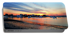 Harbor Sunset At Low Tide Portable Battery Charger