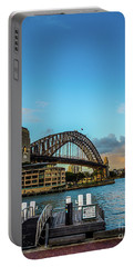 Portable Battery Charger featuring the photograph Harbour Sky by Perry Webster