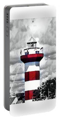 Harbour Town Lighthouse Portable Battery Charger by Tara Potts