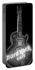 Hard Rock Cafe Sign B-w Portable Battery Charger