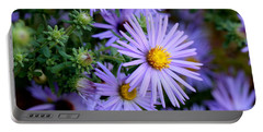 Hardy Blue Aster Flowers Portable Battery Charger