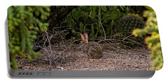 Portable Battery Charger featuring the photograph Hare Habitat H22 by Mark Myhaver