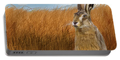 Hare In Grasslands Portable Battery Charger