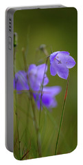 Portable Battery Charger featuring the photograph Harebell by RKAB Works
