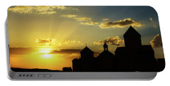 Harichavank Monastery At Sunset, Armenia Portable Battery Charger