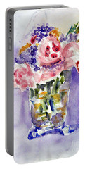 Harlequin Or Bright Side Of Life Portable Battery Charger by Jasna Dragun