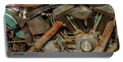 Portable Battery Charger featuring the photograph Harley Davidson - An American Icon by Bill Gallagher