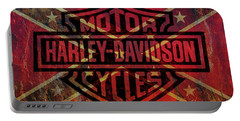 Harley Davidson Logo Confederate Flag Portable Battery Charger